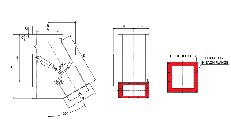 Gravity Diverter Valve Pneumatic Square Diagram