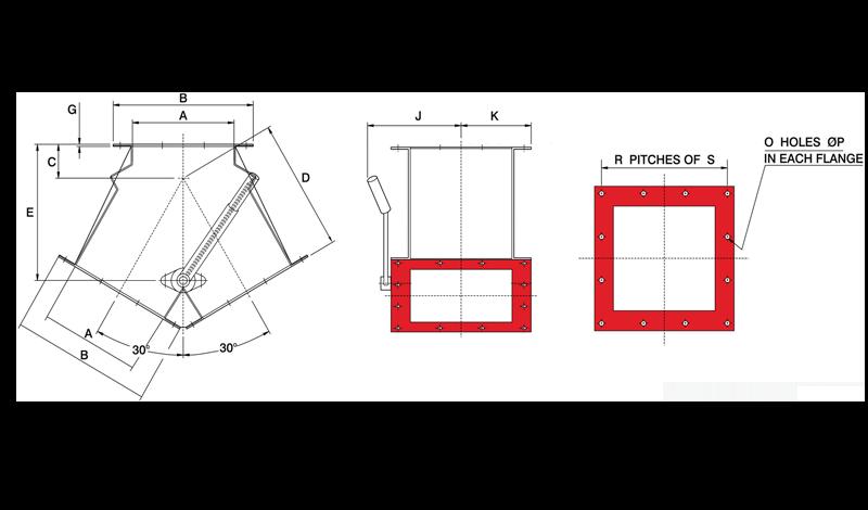 Gravity Diverter Valve Manual Square