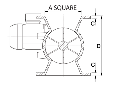 Dust Collector Rotary Airlock Square Diagram