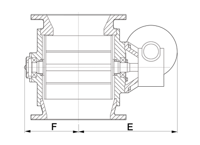 Dust Collector Rotary Airlock Square Dimensions