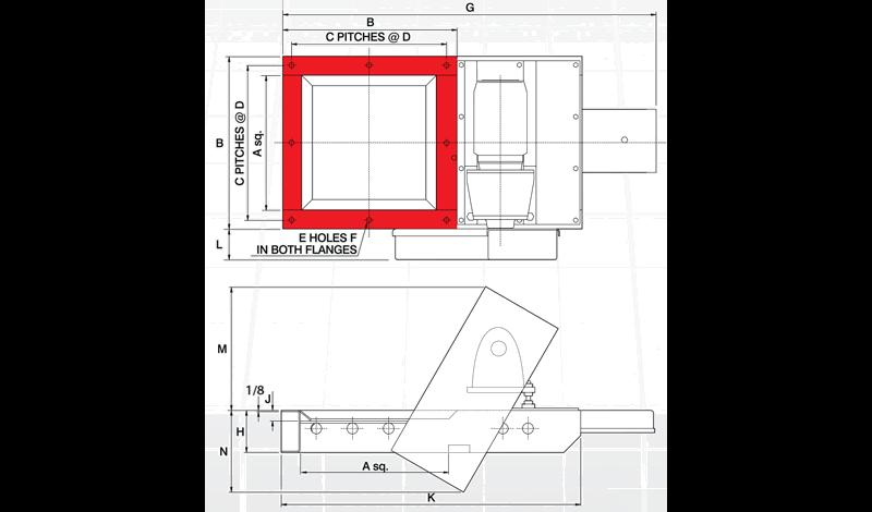 Fabricated Slide Gate Motorised Diagram
