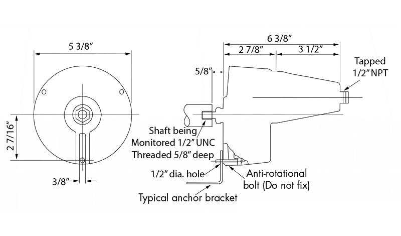 Rotospeed Switch Dimensions
